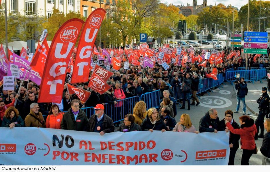 Miles de personas dicen NO al despido por enfermar