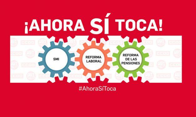 UGT y CCOO ponen en marcha la campaña en redes #AhoraSíToca